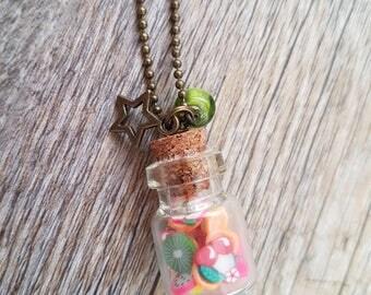 """""""Tutti Frutti"""" vial necklace"""
