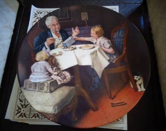1984 edwin m knowles the gourmet collectors plate
