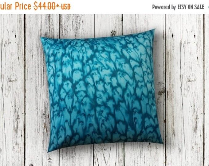SALE Ocean Decor Pillow Covers 18x18-Watercolor Silk Pillow-Beach Decor-Bohemian Decor-Coastal Decor-Gift