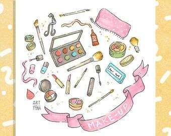 "Makeup (Little Things) 5x5"" Print"