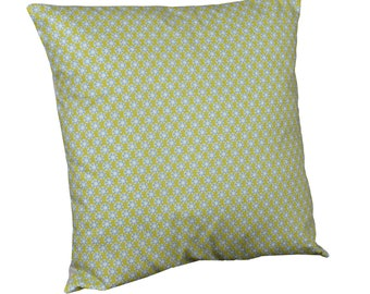 "Cushion square fabric 40x40cm ""was lime / blue"""