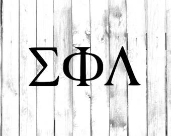 Greek Letter Decals - Fraternity/Sorority Symbols (Cost is for up to 3 Letters) - Car/Truck/Home/Computer/Phone/Laptop Decal