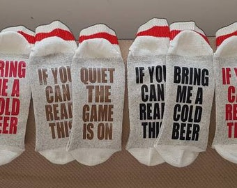 Adult Mens If You Can Read This Socks