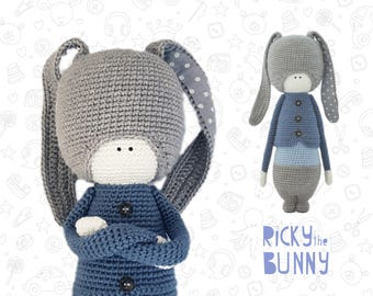 Bunny amigurumi crochet pattern toy crochet pattern animal pattern