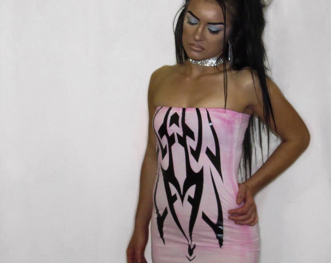 PLAST!C BARBIE// baby pink cotton tube dress