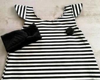 Striped dress girl 12/24 months