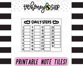 Daily Steps | PRINTABLE NOTE TILE