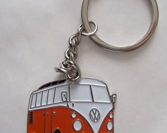 NEW Retro vintage VW combi bus keychain camper van rockabilly pin up 70's hippie volkswagen kustom low riding