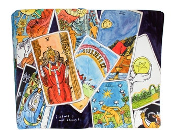 "Fine Art Print of Painting from Artist Sketchbook - ""Tarot Cards"""