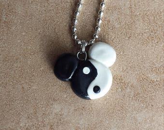 Yin Yang Mickey Mouse Inspired Necklace