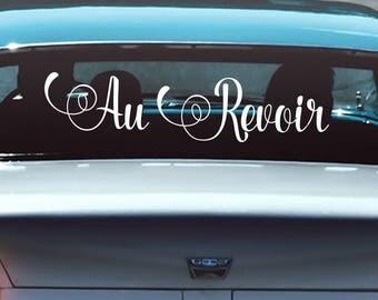 Au Revoir escapade voiture signe Decal, envoi hors signe de voiture, idées, Just Married voiture autocollant, signe de voiture marié juste, juste marié voiture décorations