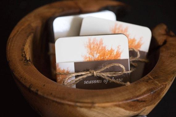 Set of 6 Coasters - Seasons of Shaw Tree