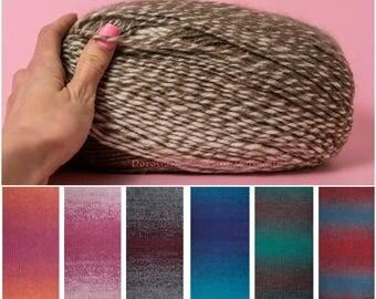Nako yarns, Gradient yarn, Premium acrylic yarn, Nako Ombre yarn, knitting mixed yarn, Winter yarns, Nako yarns, variegated yarn