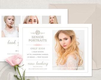 Senior Photography Marketing Flyer - Senior Photography Marketing Postcard, Senior Marketing, Photoshop Template for Senior Photographers