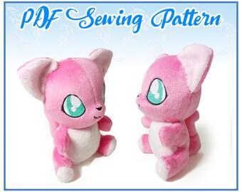 Sitting Kitty Plush PDF Sewing Pattern