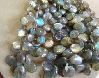 Labradorite 1 strand 10''  30, grams 7X9, 15X21 MM