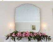 SALE Large Modernist Mirror MidCentury Mirror Art Deco mirror frameless mirror Bevelled edge beveled mirror  M223