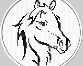 Horse - PDF Downloadable Printable Cross Stitch Pattern