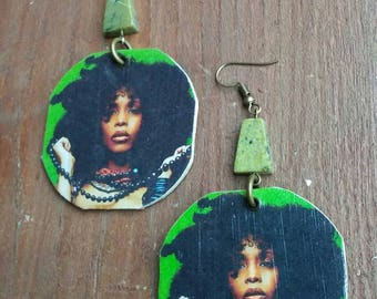 Erykah Badu Earrings, Erykah Badu, Erykah Badu Jewelry