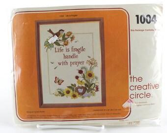Life is Fragile Crewel Embroidery Needleart Kit, K225