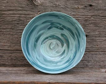 Water whirl waterswirl petrol porcelain bowl