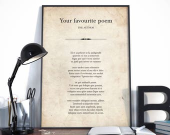 Custom Quote, Custom Poem Print, Custom Quote Print, Your favourite quote, Your Words Here