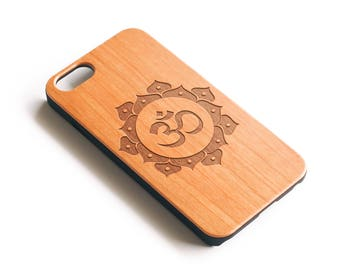 iPhone X Case, iPhone 8 Case, iPhone 8 Plus Case, iPhone 7 Plus Case, Mandala iPhone Case, Om, iPhone 6 Case, Wood iPhone 7 Case,iPhone 6S