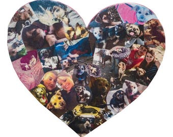 Valentine Heart Shaped Photo Collage