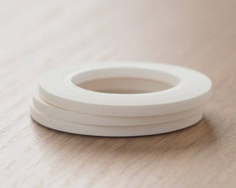 mt slim 3mm Matte White washi tape | Mt Summer Collection 2017 Japanese Masking Tape MT Slim Craft Supplies (MTSLIMS12)