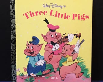 Vintage 1948-1953 Three Little Pigs Golden Book Story