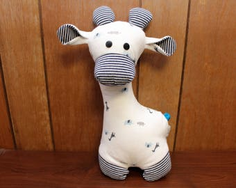 stuffed animal keepsake - keepsake giraffe - baby memory keepsake - baby keepsake - keepsake animal - mothers day gift - Christmas gift