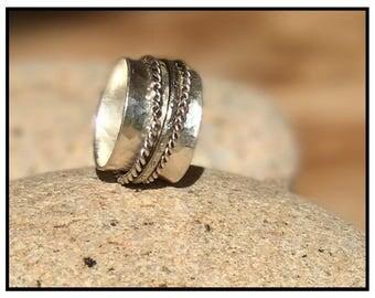 925 sterling silver spinning meditation ring