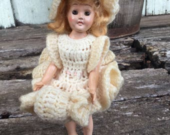 Vintage Celluloid Doll, Sleepy Eyes, Vintage Doll, Vintage Sleepy Eyed Doll