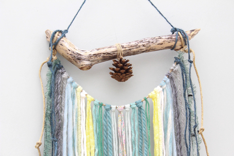 Wall Hanging/ Boho Wall Hanging/ Woven Wall Tapestry/ Yarn Driftwood Wall  Hanging/