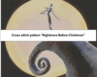 3 Nightmare Before Christmas Cross Stitch Patterns