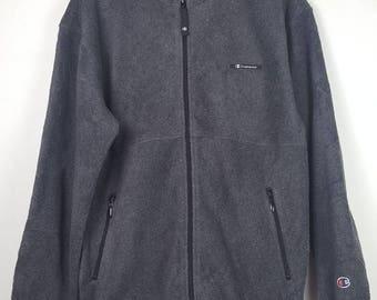 Vintage Champion Products small logo fleece jacket