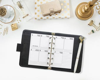 Pocket 2018 Weekly Vertical printed planner calendar - Wo2P - week on two pages - week layout - Monday Start - vertical layout