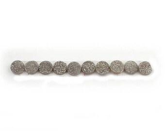 MEGA SALE 10 PCS Mystic Titanium Druzy Drusy Druzzy  Round Loose Stones - Titanium Round Druzzy 10mm Lgs484