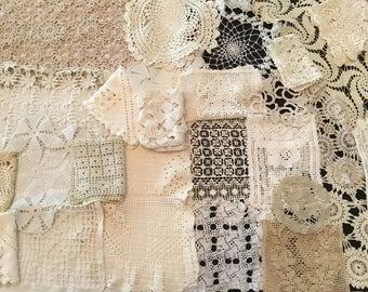 Lot of 26 Vintage Crochet Doilies - Acru/ Off White AA2