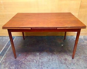 Danish modern MCM teak dining table