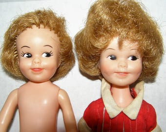 """Two Penny Brite Dolls - 1963 Deluxe Reading Corporation - 8"""" Tall"""