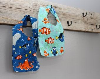 Dory and Nemo Inspired Bibs