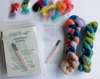 Needle Felting Starter Kit - Fiber Trends, needle felting, wool felting, felted