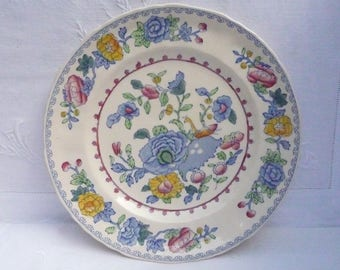"Masons Patent Ironstone 'Regency' Breakfast or Salad Plate 8 7/8"" 22.5cms"