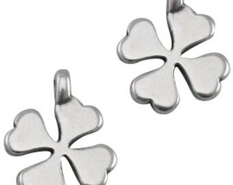 """DQ Metal Pendant """"klee"""", Charm-2 pcs.-Zamak-Colour (colour: silver)"""