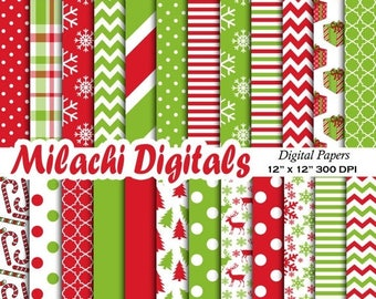 60% OFF SALE Christmas digital paper, holiday scrapbook papers, snowflake wallpaper,  polka dot background - M410