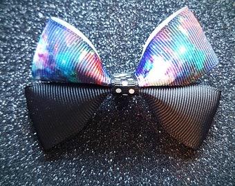 Galaxy hair bow clip