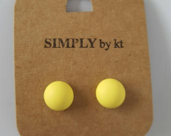 Clay Earrings - Lemon