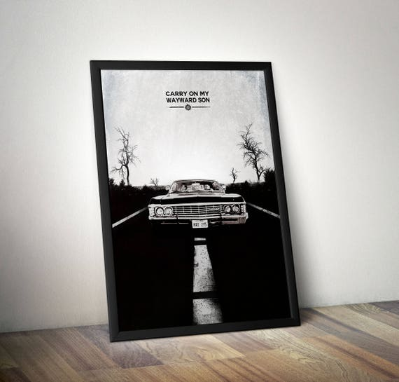 Supernatural Minimalist poster - Supernatural inspired Minimalist poster - Impala 67