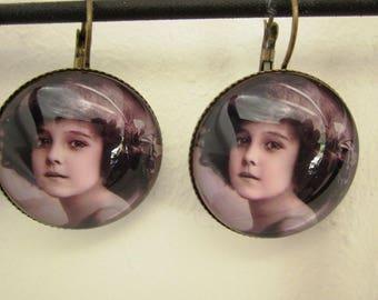Shabby chic Stud Earrings 'childhood'
